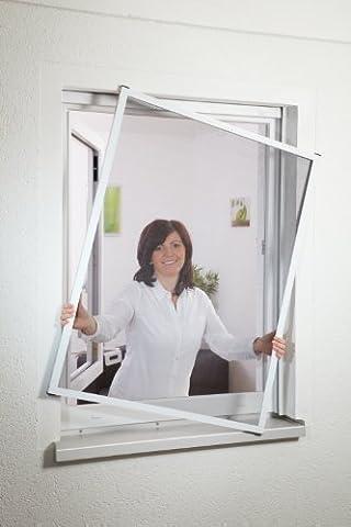 Insektenschutz Fliegengitter Fenster 1A MEISTERQUALITÄT BRAUN bis 110 x 130 cm 3er Set Montagevideo PORTOFREI!!! von Hecht International
