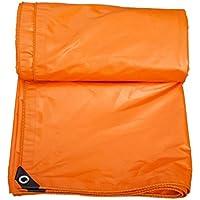 lonas Paño de lluvia Impermeable Protector solar de lona gruesa Toldo exterior Toldo lona de lona del coche Paño de lona 5 tamaños disponibles (Color : Orange-3m*4m)