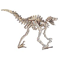 Healifty 3D Wooden Dinosaur Puzzle Animal Jigsaw Puzzle Educational Toy DIY Assembly Puzzle Model Toy for Kids Children Students (Deinonychus)