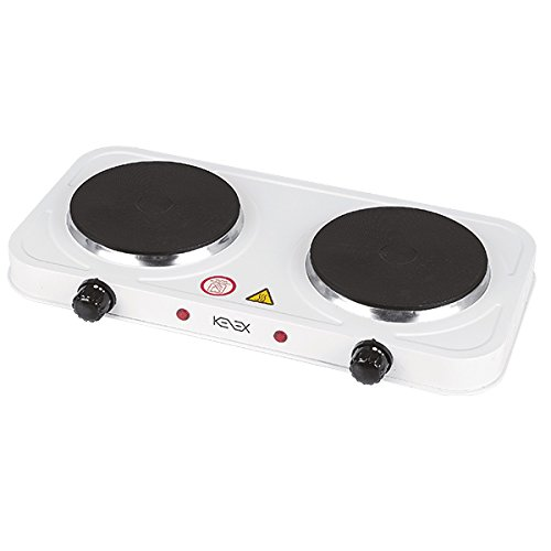 Kenex KXC-CEP2F Cocina Eléctrica, 2000 W, Blanco