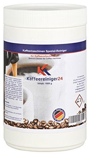 Kaffeereiniger24 I Reinigungspulver für Kaffeevollautomaten 1000g I Vielfältig einsetzbarer Reiniger I Geschmacksneutral, schnell löslich