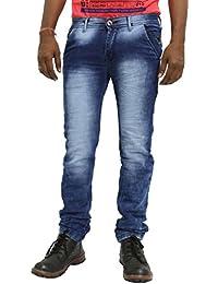 JUGEND Blue Regular Fit Stretchable Jeans for Men