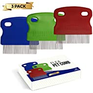 volila Flea Comb for Pets Grooming either cats or dogs insect, pest or dirt remover (3 Pack)