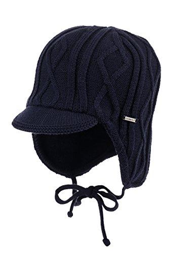 maximo Jungen Mütze Mütze, ausgenäht, Bindeband, Dach, Gr. 49 cm, Blau (dunkelmarine 11)