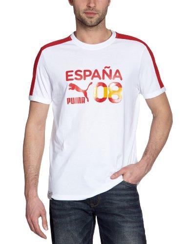 PUMA Herren T-Shirt Football Archives T7 Ringer, white-spain, S, 740805 12 (Logo White T-shirt Ringer)