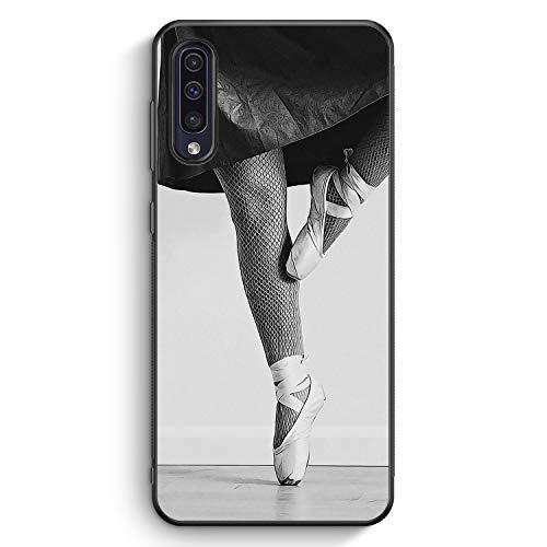 Ballet SW - Silikon Hülle für Samsung Galaxy A50 - Motiv Design Schön Süß Tanzen Frauen Damen Mädchen - Cover Handyhülle Schutzhülle Case Schale