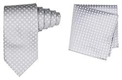 69th Avenue Mens Tie and Pocket Square (Grey)