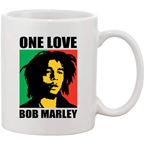 Tasse mit Aufdruck - Modell One Love Bob Marley - Kaffeetasse Becher Teetasse Kaffeebecher