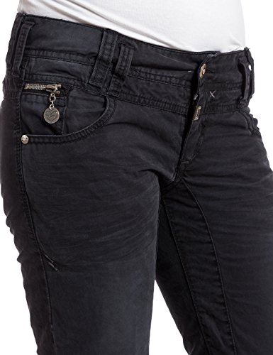 Timezone - FrankaTZ 3D  comfort pants, Pantaloni da donna Nero (caviar black 9151)