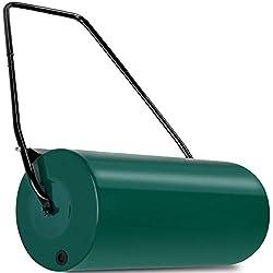 Rouleau pour gazon avec tambour de 60kg,décrotteur, modèle résistant avec poignée repliable, à remplir avec du sable ou de l'eau, largeur de travail de 60cm