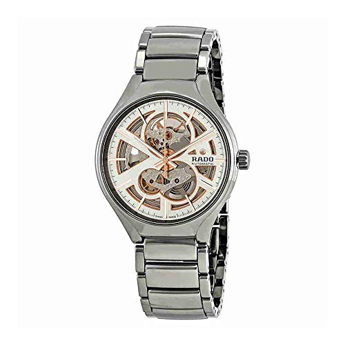 Rado Men's True Open Heart 40mm Silver-Tone Ceramic Band & Case Automatic Skeleton Dial Watch R27510102