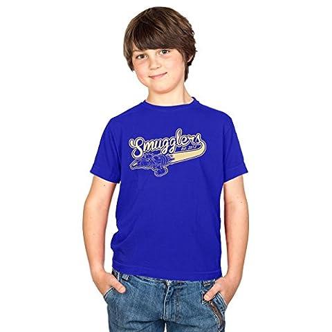 TEXLAB - Smugglers - Kinder T-Shirt, Größe XS, marine