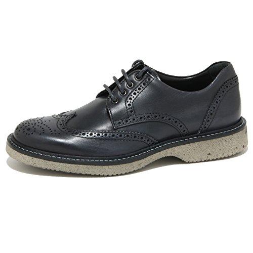 1961O scarpa allacciata HOGAN ROUTE DERBY nero blu scarpe uomo shoes men Nero/Blu