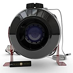 """Black Orchid Centri-flo In Line Centrifugal Grow Room Fan Temp & Speed Control (12"""" (315mm) Dia)"""