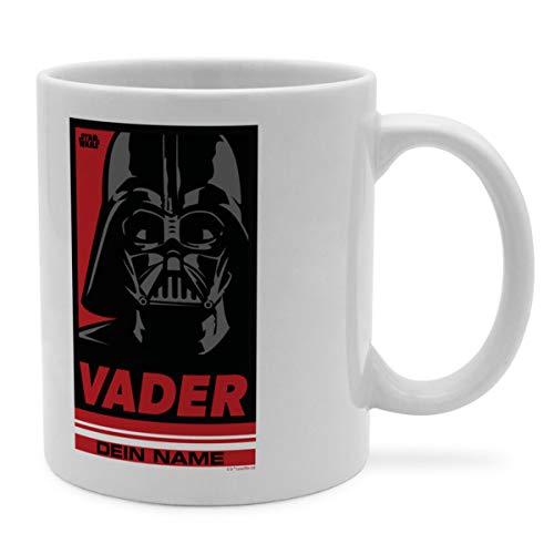 PhotoFancy Tasse Star Wars mit Namen personalisiert - Design Darth Vader Pop Art -