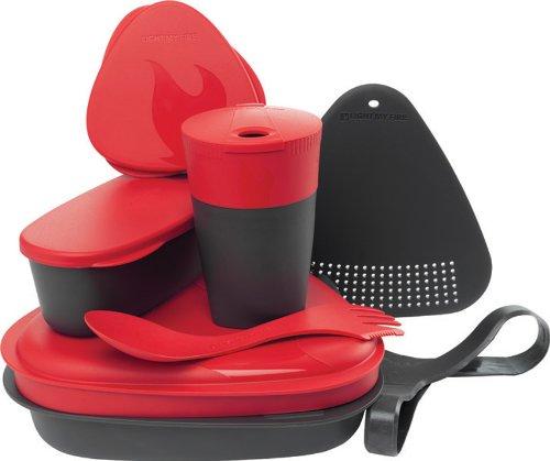 Light my Fire Essgeschirr Set Für Outdoor Cooking Light My Fire MealKit 2.0, Red, Onesize, 4136