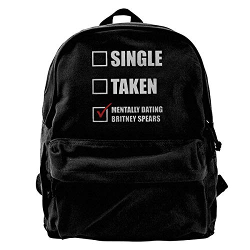 YANNAN Mentally?Dating?Britney?Spears Backpack Unisex Classic School Bookbags Travel Bag 14Inch Laptop Bag Purse (Britney Spears Wallet)