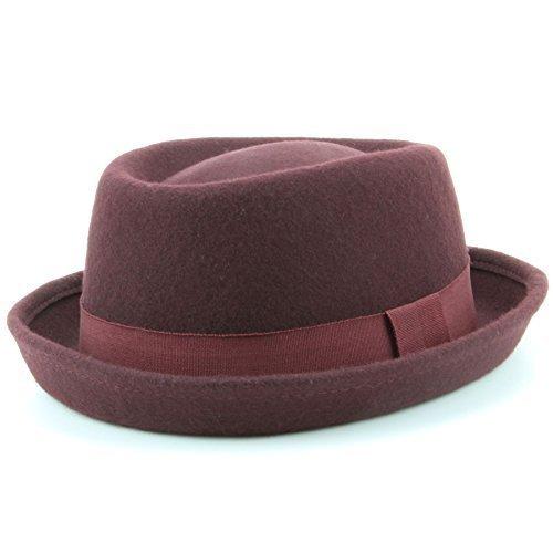 Lana feltro Heisenberg cappello pork pie cappello con fascia - 3 colori -  blu ee5ec12b19af
