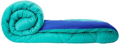 Solimo Microfibre Reversible Comforter, Single (Sea Green & Indigo Blue, 200 GSM)