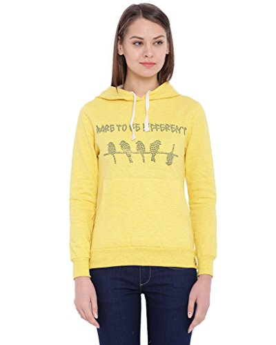 Campus Sutra Women Yellow Color Hoodie(AW16_HEMB_W_DT_YE_L)