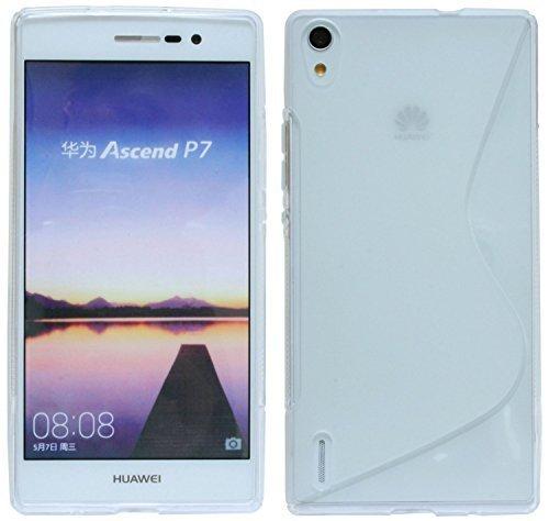 Huawei Ascend P7 // Silikon Hülle S-Line Tasche Case Zubehör Schale in Transparent @ Energmix
