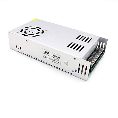 HermosaUKnight Slim 500W Metal Switch Netzteil AC bis DC 48V 10.4A Konstantspannung Driver-Silber