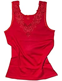d9ee63ba41066 Débardeur - coton peigné - large empiècement dentelle - sans couture ...