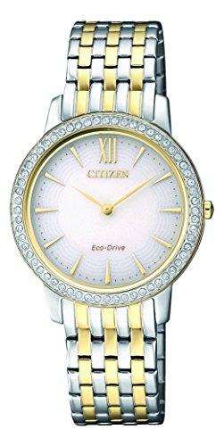 Citizen Damen Analog Quarz Uhr mit Edelstahl Armband EX1484-81A
