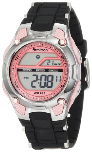 Armitron Sport Damen 456984PNK Pink and Black Chronograph Digital Armbanduhr