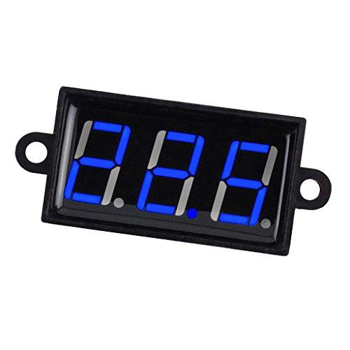 Preisvergleich Produktbild Sharplace Mini Wasserdicht 0.56 ''Digital Spannung Meter DC 4-80V Prüfer LED-Panel Voltmeter für Auto, Motorrad, Batterie, Monitor - Blau,  42 x 24x 21mm