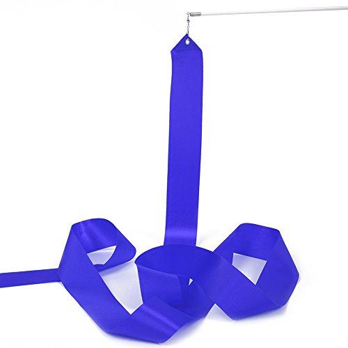 Forfar universal Kreativ 4M Rhythmische Gymnastik Band Streamer Baton Twirling Rod Silk Trainingsgeräte für Gym Dance Tanzen Gymnastic Band (Silk Tülle)