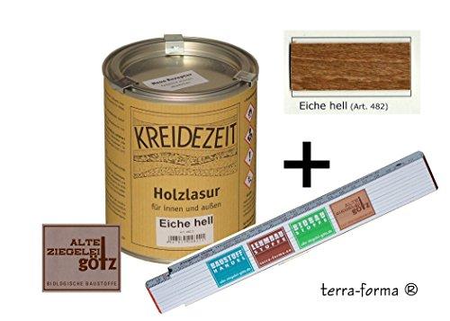 Holzlasur für Innen und außen 0,75 l farbig (Eiche hell) (Helle Farbige Möbel)