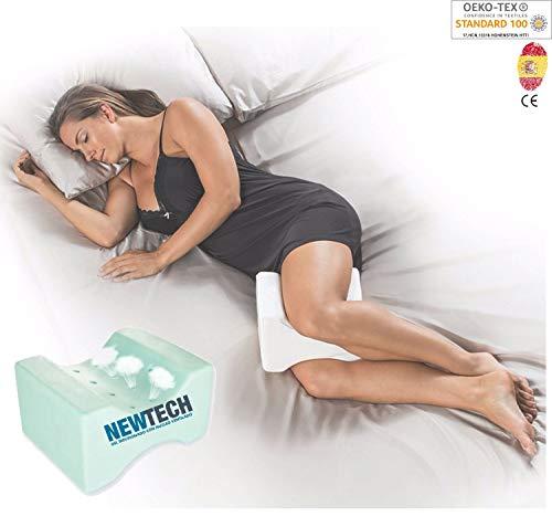 AIMO Spain Almohada cojín piernas ortopédico de Rodilla KP-003 con Gel INFUSIONADO, Facilita el Dormir...