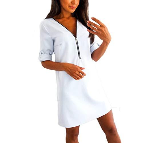 Plus Größe Kostüm Tanz - Bluelucon Damen Frohe Weihnachten Frauen Printed Long Sleeve Abend Prom Party Tanz Cosplay Schlank Kostüm Swing Kleid Rock