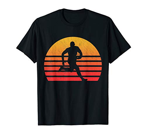 Vintage Retro Sunset Rugby T-Shirt -