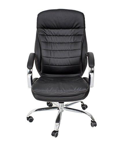 Yellowshop–Präsidialregime Sessel Büro Drehstuhl Chefsessel Schreibtisch Studio Energie Luxus Typ Chloe schwarz