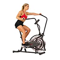 Sunny Health & Fitness Unisex Adult SF-B2715 Zephyr Air Bike - Black, One Size