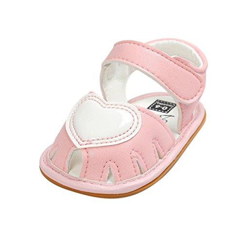 Baby Schuhe Auxma Baby Mädchen Frühling Sommer Prinzessin erste Wanderer Schuhe Sandalen für 3-18 Monate (3-7 M, Gold) Rosa