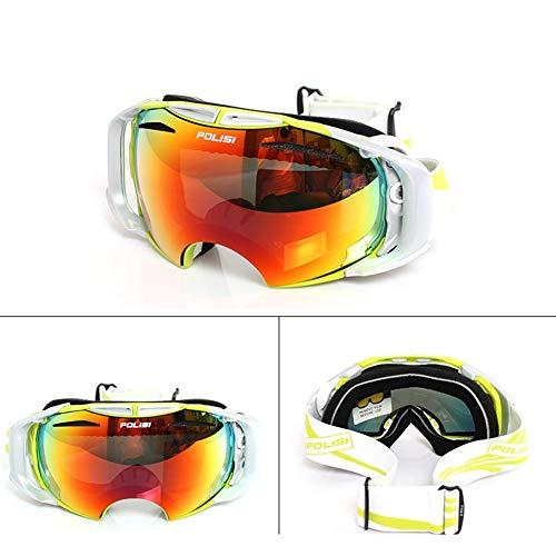 He-yanjing Outdoor Sports Snow Snowboard Goggles, Radfahren Schutzbrillen Motocross Goggles, Eltern-Kind-Skibrille, Skibrille für Männer und Frauen (Farbe : Grün) - Grün Frauen-ski-schutzbrillen