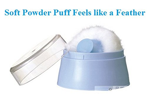 Total Hygiene Cylindrical Powder Container and Soft to Touch Powder Puff for Baby Powder
