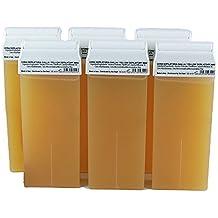 Dream Store 6 cartuchos de cera tibia de depilar liposoluble miel, Depilación Con Banda