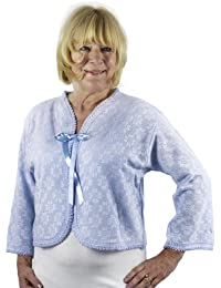 Bed Jacket with Tie, Classic Thermal