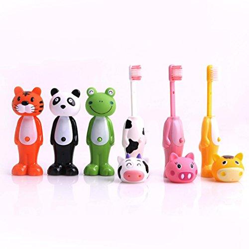 (yunso Kinder Zahnbürste, Cartoon Tier Figur Zahnbürsten für Kinder, Cute Lovely Zahnbürste für Kinder Geschenk)