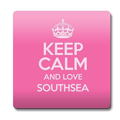 Pink Keep Calm und Love bezogene Lehnstuhl Southsea Untersetzer Farbe 0606