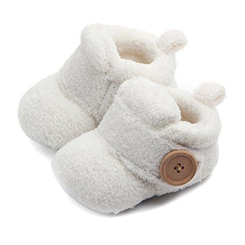 Butterme Neugeborene Fleece Bootie, Unisex Baby Premium Soft Sole Anti-Rutsch Infant Prewalker Kleinkind Schuhe (Fleece-booties)