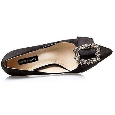Moda Donna Sandali Sexy donna estate tacchi tacchi Casual di seta Stiletto Heel Bowknot nero / rosso / grigio / Oro Altri Black