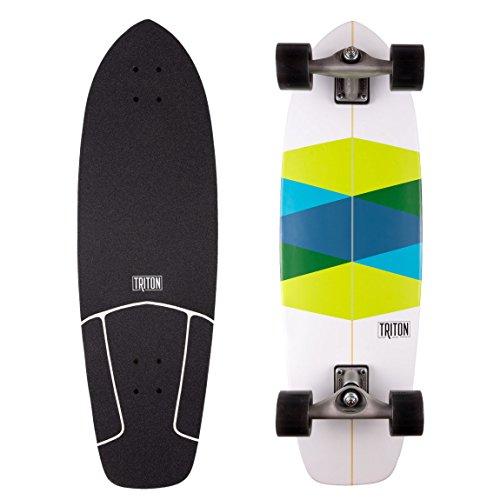 CARVER Triton Green Class - Surfskate Komplett (Skateboard Komplett Carver)