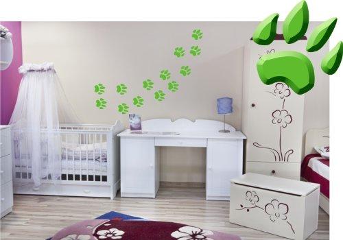 39-zampe-4-x-4-cm-adesivo-da-parete-adesivo-per-auto-set-adesivo-zampe-carino-colore-verde-chiaro