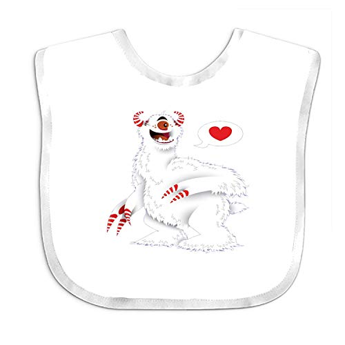 Qinckon Candy Beast Infant Funny Bib - Best Gift for Newborn Baby Bib, Toddler Bib -