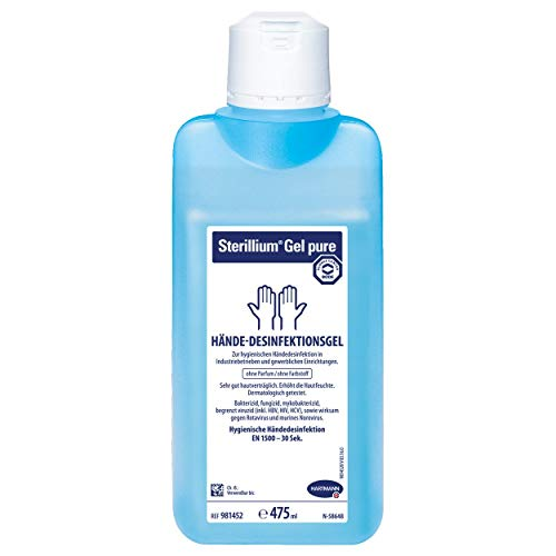 Desinfektionsmittel Gel (Hartmann Sterillium® Gel pure Hände-Desinfektionsgel, Desinfektion, 85% Ethanol, 475 ml)